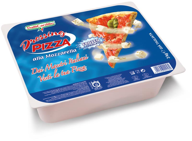 SA Dressing Pizza alla Mozzarella sfil/cub Frozen 3 Kg