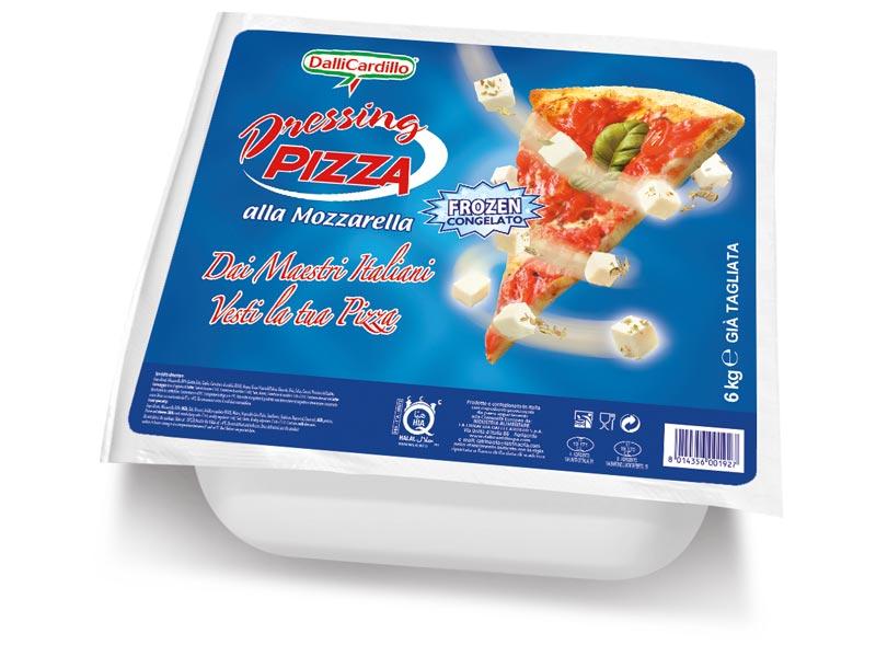 SA Dressing pizza alla Mozzarella blocco termo-formato Frozen 6 Kg