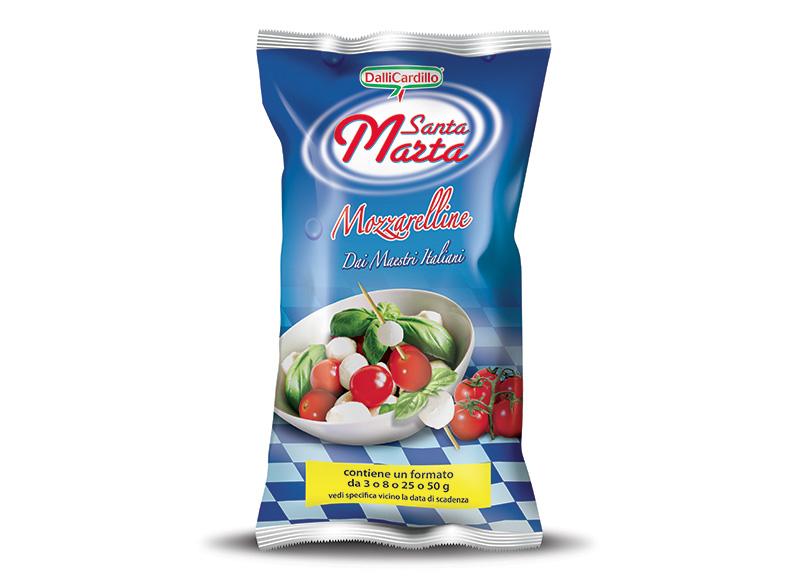 Mozzarelline Santa Marta 3-8-25-50 g in busta da 1 Kg