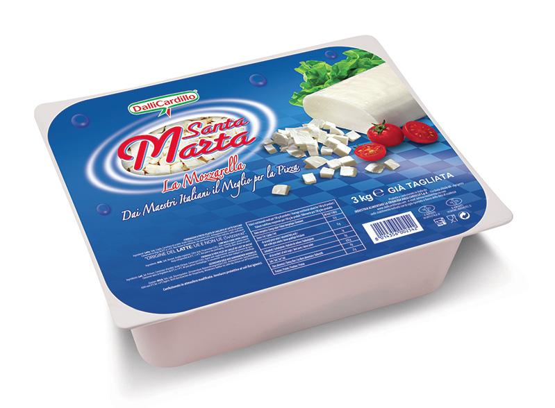 Mozzarella Santa Marta sfil/cub 3 Kg